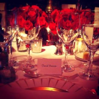 Dinner at Claridges