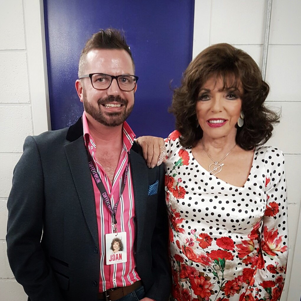 David V Barron and Joan Collins.