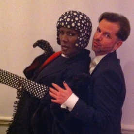 Grace Jones and David V Barron